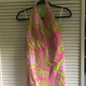 Girls Lily Pulitzer 14 Halter Pink Sun Dress